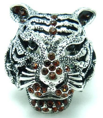 Ringe 2113 Fingerring XL Strass Ring Tiger Strass besetzt alle Größen (rot-braun)