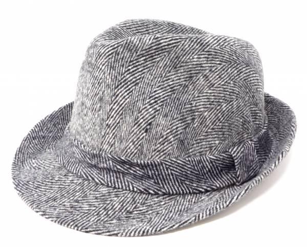 Herren Mütze Windschutz Trilby Fedora weiss grau