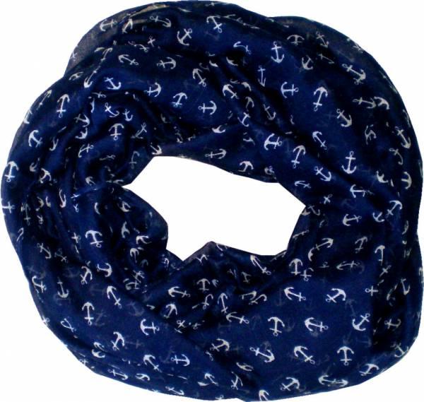 Schal Herren Damen Loop Schal blau Schlauch Schals Rundschal (AnkerSblau) 4720