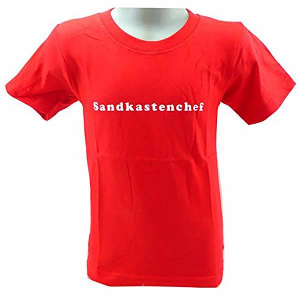 tolle Kinder T-Shirts 1 - 6 Jahre viele Farben SANDKASTENCHEF (3-4 J, rot)