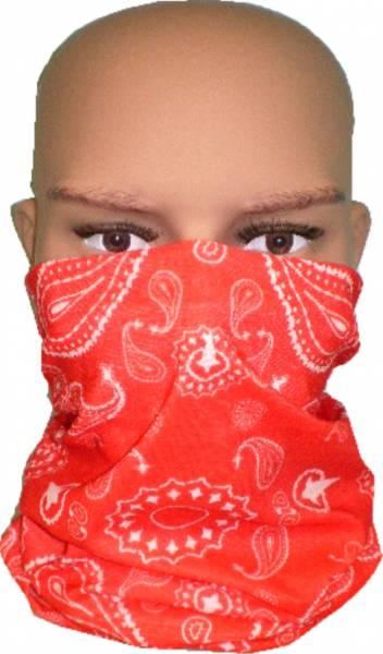 Maske Schal Tuch waschbar rot Muster Pasli weiss