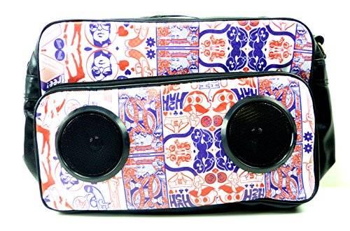 USA NEUHEIT! Sound Bags Taschen mit eingebauten Soundboxen (Silent White)