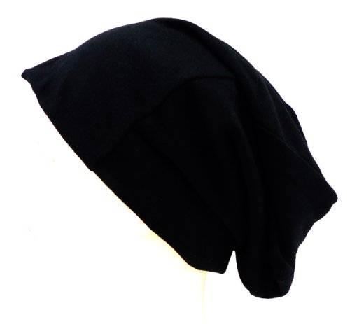 Cap 3817 viele Stoff-Muetzen Long Beanie Urban Beanie Classic Chill Wear Summer (schwarz)