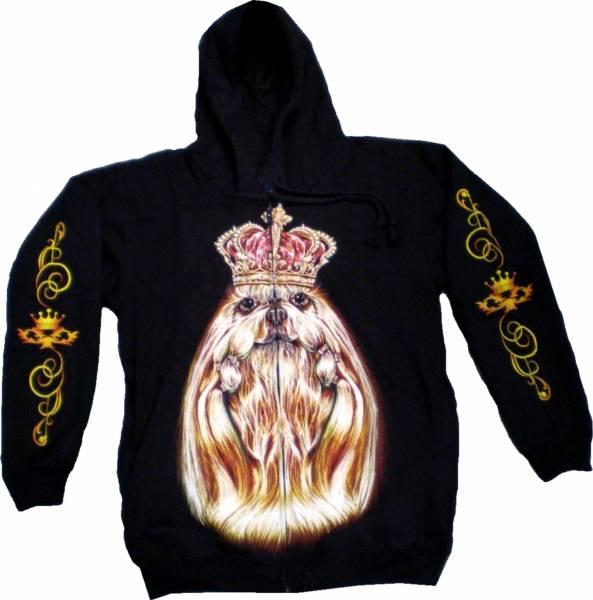 Biker Sweatshirt 4637 Herren Damen Pullover Gothic Punk Kaputzen Jacke S-XL black Sherpa Hoodie Sweatshirt Kaputzen Pulli #36