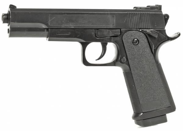 Softair Set Airsoft Pistole Federdruck Kostüm 20cm 0,5 Joule