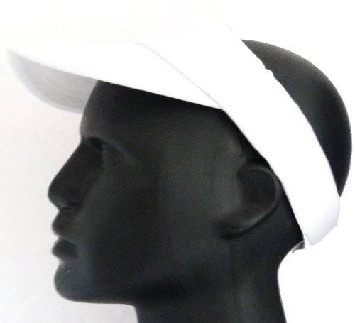 Cap 3038 sportliche Cappy oben offen Tennis Schirm-Muetze mit Klettverschluss WEISS