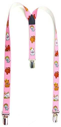 Hosentrager 3998 Kinder Hosen-Traeger mit suessen Kätzchen-Motiv viele Modelle (rosa)