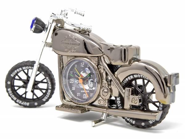 Motorrad Biker Tisch Stand Uhr Schopper anthrazit schwarz