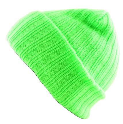 Winter Mütze Snowboard neon Cap grün