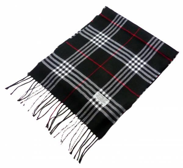 Schal Herren Damen Schal kariert Winter Luxus Scarfs Deluxe Schals super Soft weich (schwarz) 47152