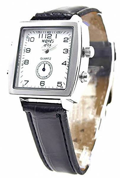 Herren-Uhr Damen-Uhren Leder-Armband schwarz elegant klassische Armband Uhr für Sie und Ihn Ox15