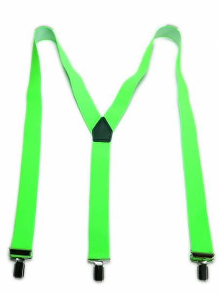 Herren Damen Hosenträger neon grün 3 Clips