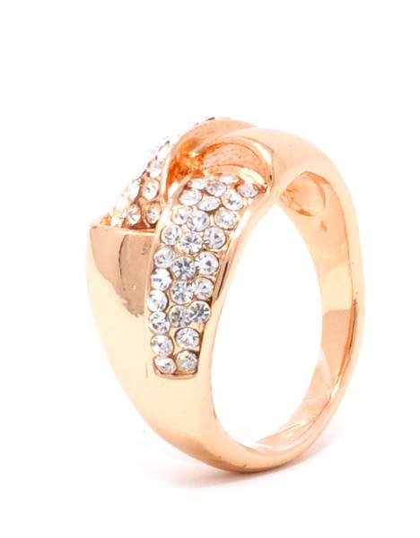Damen-Ring Rose-Gold Strass