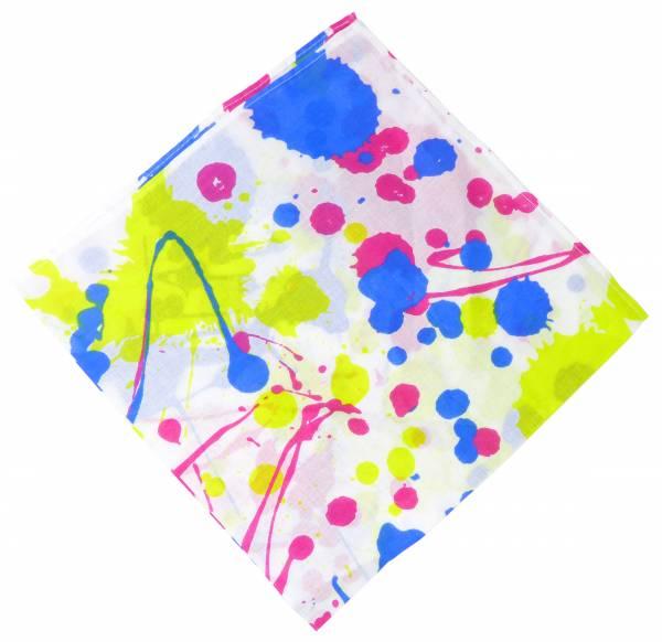 Maske-Schal waschbar Nickituch weiss mit Motiv Farbe 54cm