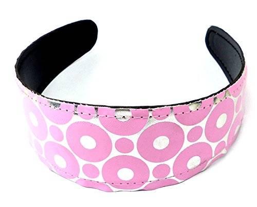Haarreifen 2211 Haar-Reif Haar Spange Retro rosa Kreise Design H7