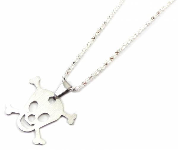 Silber Kette Halskette Evil Wear 4354 Totenkopf Silber Hals-Ketten für Sie und Ihn