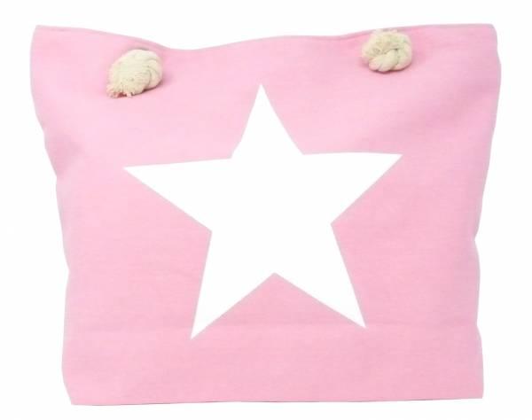 Style Damen-Tasche Schulter Strand-Taschen Stern-Motiv rosa