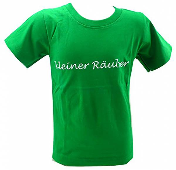 Kinder-Hemd grün lustige Sprüche T-Shirts 1 - 6 Jahre viele Farben KLEINER RÄUBER (1-2 J, grün)