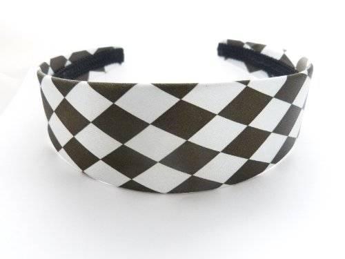 Haarreif 2527 Haar-Reifen Haat Spange Karo Design viele Farben (schwarz) O58