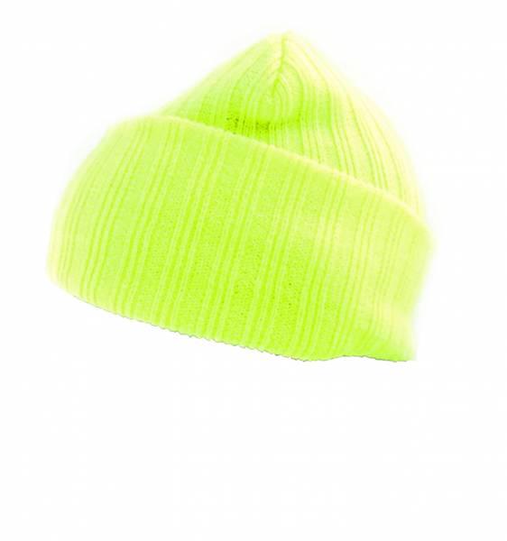 Herren Damen Winter Mütze Neon Gelb