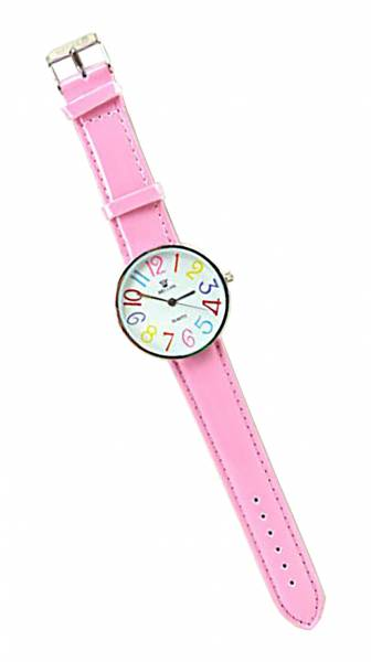 Damen-Uhr Kinder Marken-Uhr in knalligen Farben in schönem Design ROSA