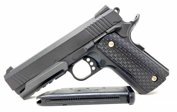 Softair Pistole Metall Set Federdruck Gürtel-Holster 0,5J