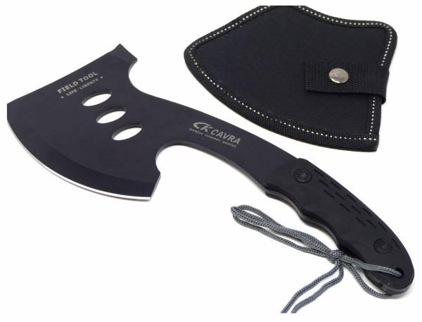 Metall Axt Outdoor Camping Wurf-Äxte schwarz 25cm