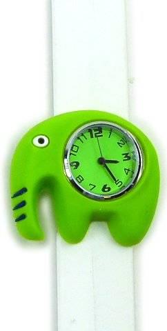Armbanduhr-Kinder-Uhr-Damenuhr mit Slaparmband aus Silikon viele Modelle Benjamin 84-x (weiss)