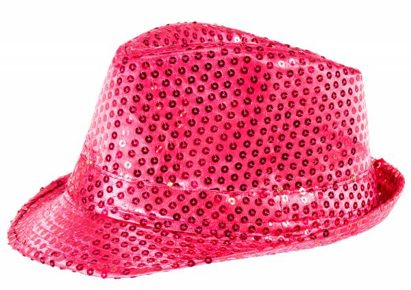 LED-Hut Party-Hüte Pailletten LED Lichter-Hut Wechsel Neon Pink