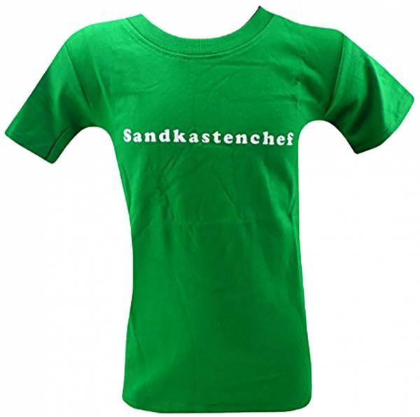 tolle Kinder T-Shirts 1 - 6 Jahre viele Farben SANDKASTENCHEF (5-6 J, grün)