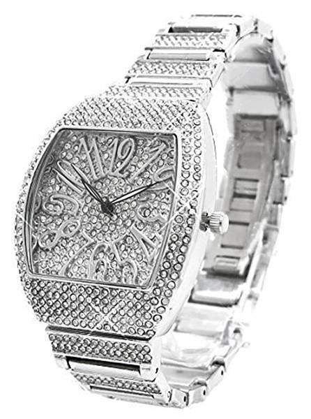 Armbanduhr mit Edelsteinen besetzt hochwertige Italy Designer Watch H85-8x