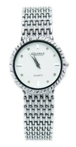 Elegante Armbanduhr stilvolle Damenuhr schlichte Designer Uhr klassische Damen Uhr mit Edelstahlarmband Strass Look Q32