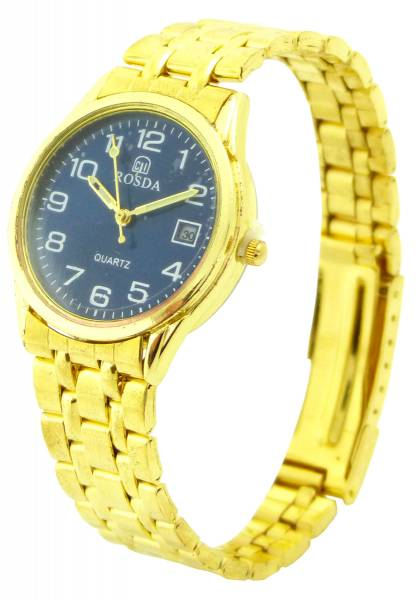 Uhren Herren Damen Armband-Uhr gold Universal-Größe Flex-Armbaender Man Woman Business Designer Watch (gold) 4549