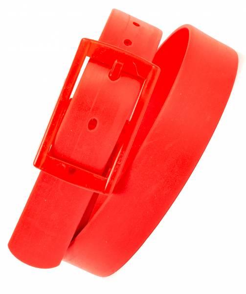 Fasching Karneval Gürtel Silikongürtel One Size 110cm Lang in Neon Rot
