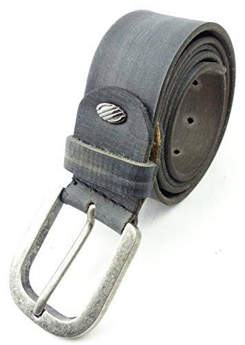 Guertel 1542 echt Leder-Guertel Leather Jeans Belt Business Leder Gürtel STONE GREY (110)
