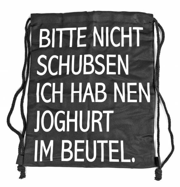 Beutel Rucksack Herren Damen Hipster Tasche schwarz gestreift Turnbeutel Stoffbeutel Tasche Motto Spruch Schwarz