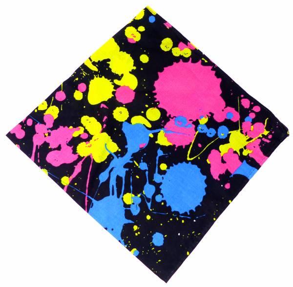 Herren Damen Halstuch Nickituch schwarz mit Motiv Farbe 54cm