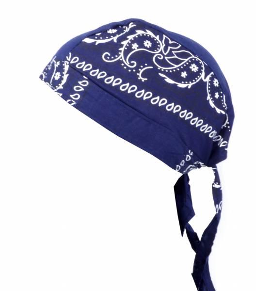 Kopftuch Paisl. Muster Kopftücher Headscarfs blau