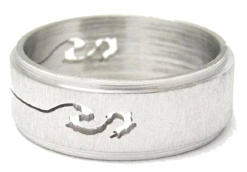 Top Designer Edelstahl Ring mit ausgestanztem Muster - snake GR. 18