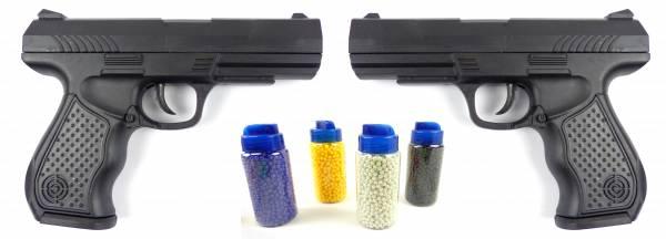 Spielzeug-Pistolen Set 2Stk Kinder Softair-Waffe Toy-Gun 0,2J mit 2000 Kugeln