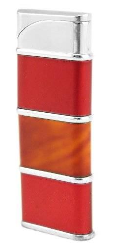 Feuerzeug 1970 Designer Lighter Feuer-Zeug elektro-Gas Zündung ROT - BERNST.
