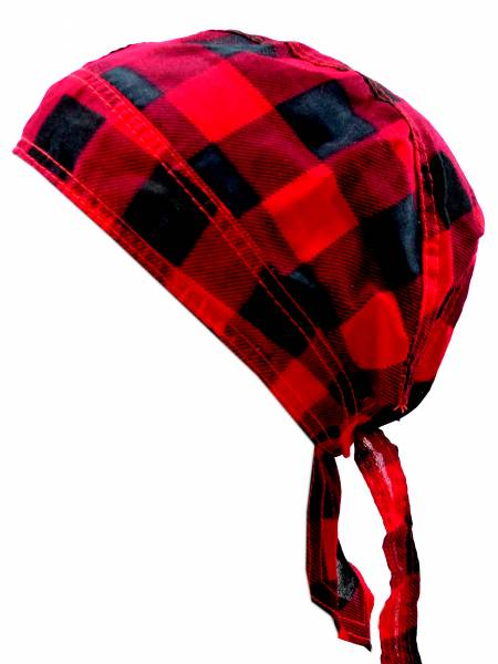 Kopftuch 4403 Kopftuecher Punk Rock Bandanas Headscarf Bandannas für Kinder und Erwachsene (KaroRot)