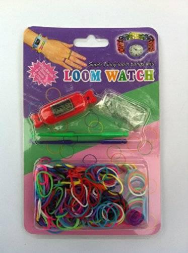 Loom Bands Uhren Kit - 200 Latex frei Bands + S-Clips + Haken Bandz