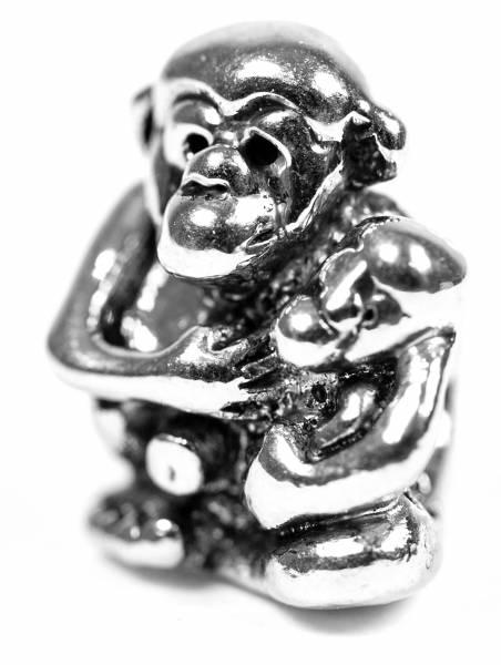 Beads Charms Schmuck Glasperlen Anhänger Unisex Zwischen-Element Affe Affen Glücksbringer Motiv
