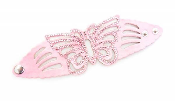 Damen-Armband rosa Schmetterling Spalt-Leder mit Strassbesatz VIELE FARBEN (rosa) 1960