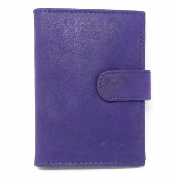 Geldbörse lila Potmonee Leder Business Scheck karten Portmonnaie 7cm