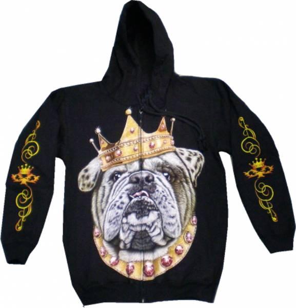 Punk Rock Jacke 4636 Herren Damen Pullover Biker Kaputzen Biker Jacke S-XL black Sherpa Hoodie Sweatshirt Kaputzen Pulli #35