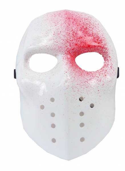 Blutige Maske Herren Damen Grusel-Kostüm Masken weiss Halloween blut Fasching Karneval Face-Mask white with Blood