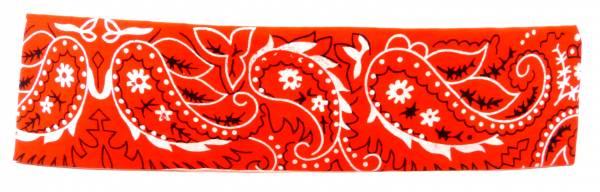 Haarband Haarreifen Stoff Haar-baender Hair Ribbon rot paisle. Muster Haar Reifen Pali. Design 5163