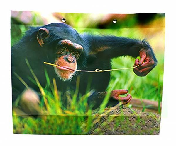 Einkauf-Taschen 3D Safarie Tragetaschen Einkauf-Tasche tolle Beutel mit Aufdruck (Affe)